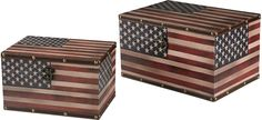 Set of 2 #American #Flag #Boxes Red/White/Blue by #Sterling