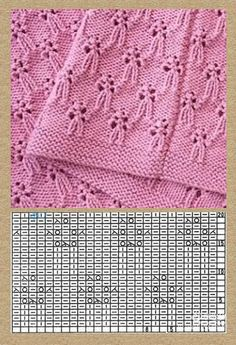 Knitting Patterns Lace Free knitting stitch pattern, chart only, no key or explanation for chart – created via pinthemall. Baby Knitting Patterns, Knitting Stiches, Knitting Charts, Lace Knitting, Crochet Stitches, Stitch Patterns, Crochet Patterns, Crochet Baby Beanie, Facebook