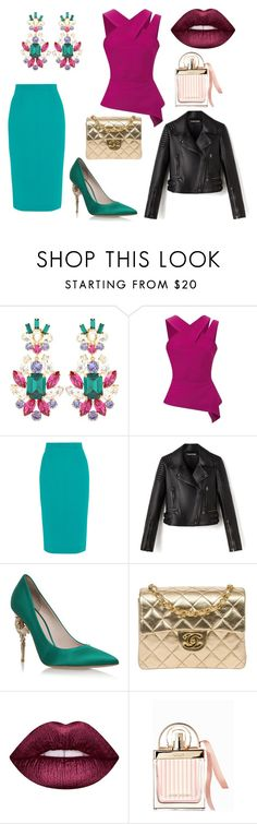 """""""* PIMPED by bOO *"""" by boo-sandra on Polyvore featuring Dolce&Gabbana, Roland Mouret, RALPH & RUSSO, Chanel, Lime Crime and Chloé"""