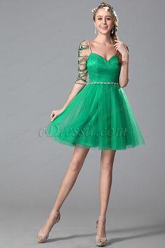 Flattering Sweetheart Neck Half Sleeves Cocktail Dress (04150204) #edressit #dress #cocktail_dress #party_dress #girl #fashion #trend