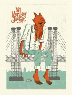 My Morning Jacket by John Solimine, via Behance