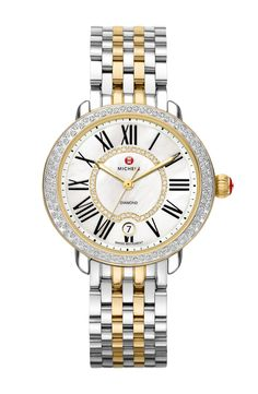 For the Moms who love the gift of luxury, she'll be obsessed with this beautiful two-tone Michele watch wrapped in sparkling diamonds.