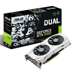 ASUS Dual series of GeForce® GTX 1060 is perfectly matched with your ASUS II motherboard! ASUS Dual series of GeForce® GTX 1060 is equipped with DirectX 12 to squeeze more graphics performance from the CPU and prevent GPU bottlenecks. Pc Asus, Asus Rog, Quad, Pc Gamer, Tv Led 50, Carte Mere Asus, Smart Tv 4k, Mini Pc, Slot