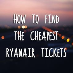 Ever wondered when exactly Ryanair releases the cheapest tickets? http://www.theartofcheaptravel.com/2014/08/cheapest-ryanair-tickets.html  cheap airfare, travel tips, travel blog, cheap holidays, europe, italy, spain, france, airport