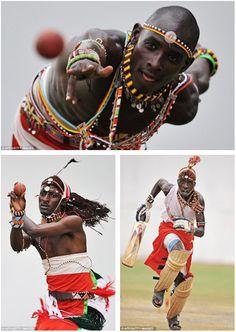 Massai warriors...