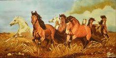 Картина из янтаря Табун лошадей цена - Картины из янтаря - Животные <- Картины из янтаря <- Картины купить - Каталог | Купить подарки, Интернет-магазин подарков и сувениров