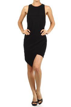 Freeway Asymmetrical Hem Sleeveless Mini Dress