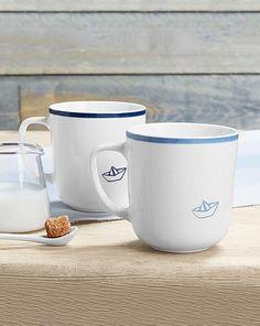 2 Trinkbecher aus Qualitätsporzellan für 8,95€ - Die Trinkbecher lassen einen schon beim morgendlichen Kaffee oder Tee von Strand und Meer träumen.