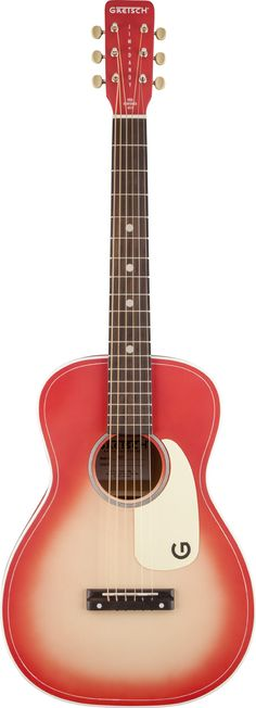 GRETSCH G9515 Jim Dandy Flat Top by Roots Collection, now available for a limited time in Coral-burst.