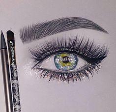 Image about beauty in Art by ღ Fasty ღ on We Heart It Pencil Art Drawings, Art Drawings Sketches, Cute Drawings, Illustration Art Dessin, Illustrations, Realistic Eye Drawing, Eye Drawing Tutorials, Eye Sketch, Beauty In Art