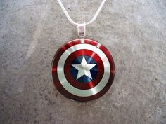 Captain America Jewelry - Marvel Jewelry - GLASS photo pendant - Photo Jewelry on Etsy, $10.00