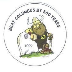 Beat Columbus Viking Magnet