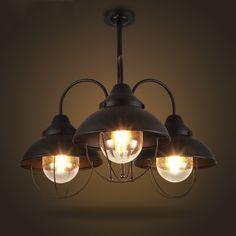 Industrial 3 Light 1 Tier Chandelier