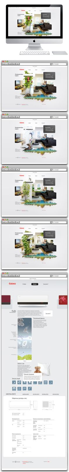 Galanz by Sergei Gurov, via Behance - love the art direction and the unordered grid
