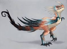 Kingstail (spitelout's dragon) Httyd Dragons, Dreamworks Dragons, Cute Dragons, Mythical Creatures Art, Fantasy Creatures, Dragon Movies, Dragon Sketch, Dragon Artwork, How To Train Dragon