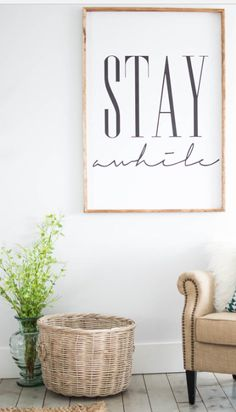 Stay Awhile Sign from SincerelyUsShop on Etsy