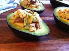 Curried Chicken Salad in Avo Cups | Honey Ghee and Me
