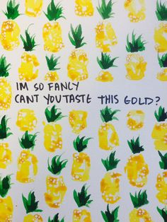 Original Fancy #Pineapple Watercolor Painting