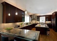 light fixture under kitchen furniture Decor Modern Under Cabinet Lighting Adds Style and Function to Your Kitchen Home Interior Brown Kitchens, Elegant Kitchens, Modern Kitchens, Vaping, Kitchen Furniture, Kitchen Decor, Kitchen Ideas, Kitchen Designs, Huge Kitchen