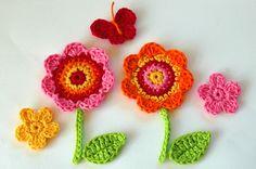 Flores de ganchillo. https://www.flickr.com/photos/anniedesigns/