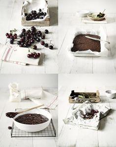 ESSBAR: Brownies mit Kirschen