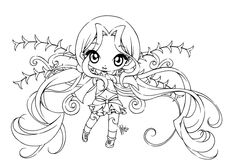 Anime Fairy Coloring Pages Chibi Coloring Pages, Fairy Coloring Pages, Princess Coloring Pages, Coloring Pages For Girls, Animal Coloring Pages, Coloring Pages To Print, Printable Coloring Pages, Coloring Books, Free Coloring