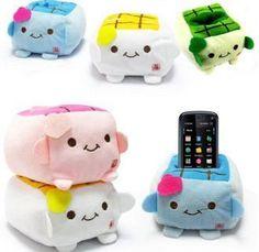 Hannari Tofu Plush phone  holder