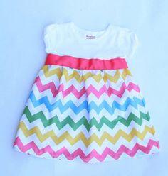 Girly Rainbow Chevron TShirt Dress with Ribbon by CharlieandMills, $28.00 Baby Bug, Rainbow Chevron, Girls Dresses, Summer Dresses, Rainbow Birthday, Kid Styles, Sash, Shirt Dress, T Shirt