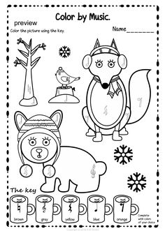 Winter Color by Music Pages | Pinterest | Music symbols, Color ...