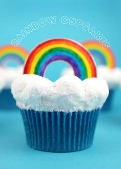 Rainbow Cupcakes by @Erin Phillips