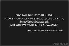 Nic tak nie irytuje ludzi, którzy chcą... #Kesey-Ken,  #Życie