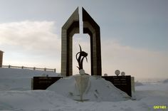 Black Tulpan  --  monument to international forces in Norilsk,   Siberia, Russia    ----------                             A city in the arctic dessert. A city without a single tree. A polar oasis.