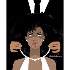 You are my Pearl #Nichollekobi #illustrations #blackwoman #blackart #blackwomanart #blackwomainArt