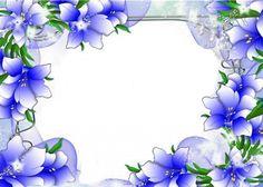 Beautiful blue flower border design border design