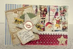 Love this layered Christmas Card by Melissa Bove using our Vintage Christmas CD (also available as a download).