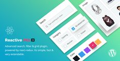Reactive Pro - Advanced WordPress Search Filter & Grid by redqteam Make searching easy for your customers. Advanced search, filter & grid plugin, powered by react-redux. Simple to install, very extendable WordPress Search plugin. It has 15  search attributes, Drag n Drop search page builder, M