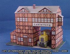 Ninjatoes' papercraft weblog: January 2014 Projekt Bastelbogen papercraft model railway buildings, trains, vehicles and more
