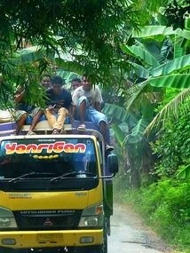 Lewoleba to Lamalera truck convoy, Lembata Island, Indonesia