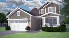 Floor Plan AFLFPW77191 - 2 Story Home Design with 3 BRs and 2 Baths
