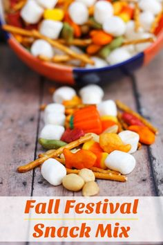 Tis the season for Fall Festival Mix! Enjoy this sweet and savory mix with your family and friends. It's easy to make and even easier to eat! Fall Festival Food, Fall Festival Activities, Fall Festival Crafts, Fall Festival Decorations, Fall Festivals, Fall Festival School, Fall Harvest Party, Fall Carnival, Kids Carnival