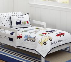 Backseat Driver Toddler Quilted Bedding | Pottery Barn Kids Benjamin Room