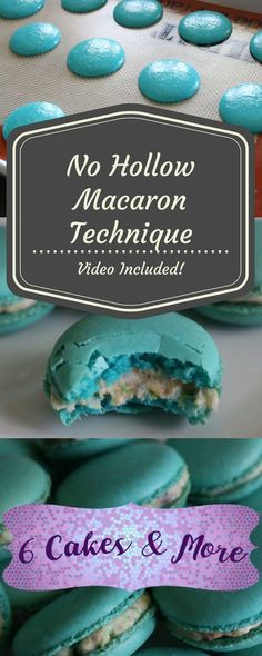 Macarons No Hollows Italian Macaron Recipe and Technique!No Hollows Italian Macaron Recipe and Technique! Italian Macaron Recipe, Italian Macarons, French Macaroons, Sugar Free Macaron Recipe, French Macaroon Recipes, Macaroon Cookies, Cupcake Cookies, Shortbread Cookies, Köstliche Desserts