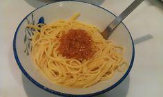 不味そう飯: ナメタケ・スパゲティである。