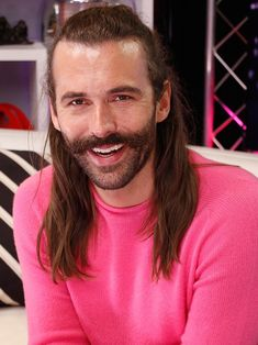 Queer Eye's Jonathan Van Ness Swears by Peppermint Oil to Cool Off on Hot Summer Days Wedding Hair And Makeup, Hair Makeup, Fab Five, Raining Men, Famous Men, Summer Beauty, Summer Days, Hair Goals, Peppermint Oil