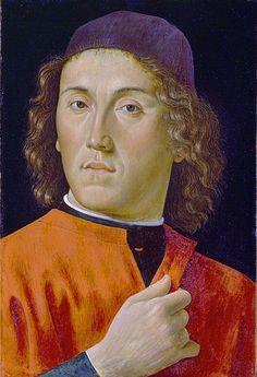 Davide Ghirlandaio, Portrait of a young man, ca. 1490