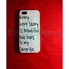 Iphone 5 Case, New iPhone 5 case Every love story is beautiful iphone... (20 AUD) ❤ liked on Polyvore featuring accessories, tech accessories, phone cases, phones, iphone cases, iphone case, white iphone case, iphone cover case and apple iphone cases