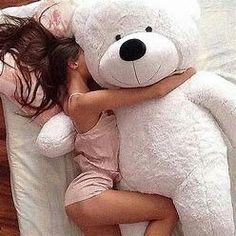If Daddy loves me, He will get me a big teddy bear! Teddy Girl, Giant Teddy Bear, When Your Crush, Daddys Princess, Princess Diana, Foto Baby, Daddy Bear, Girly Things, Cuddling