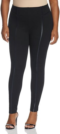 Lyssé Plus Faux Leather Piping Leggings ** You can get more details by clicking on the image.