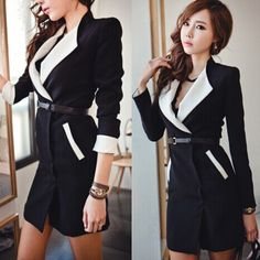 Find More Trench Information about 2014 New Fashion Women's Slim Black Collar Patchwork Fit Double breasted Belt Trench Coat Casual Long Outwear,High Quality fashion stage,China fashion mens coat Suppliers, Cheap fashion coat for men from Lynne's Wardrobe on Aliexpress.com