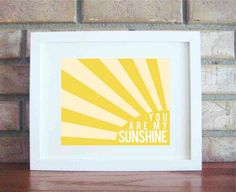 Jesus wants me for a sunbeam-make a little card with this maybe and make invitations for recruiter? Handmade Father's Day Gifts, Diy Gifts, Baby Mine, You Are My Sunshine, Hanging Wall Art, Diy Art, To My Daughter, Crafts To Make, Playroom